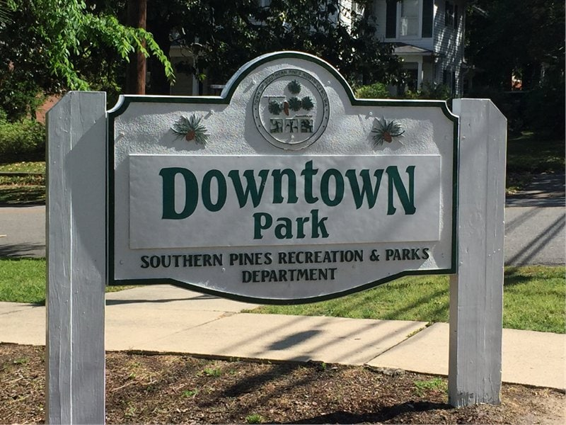 <h4>Downtown Park<span> – NEW!</span></h4><h5>145 SE Broad Street<br/>Southern Pines, NC 28387</h5>