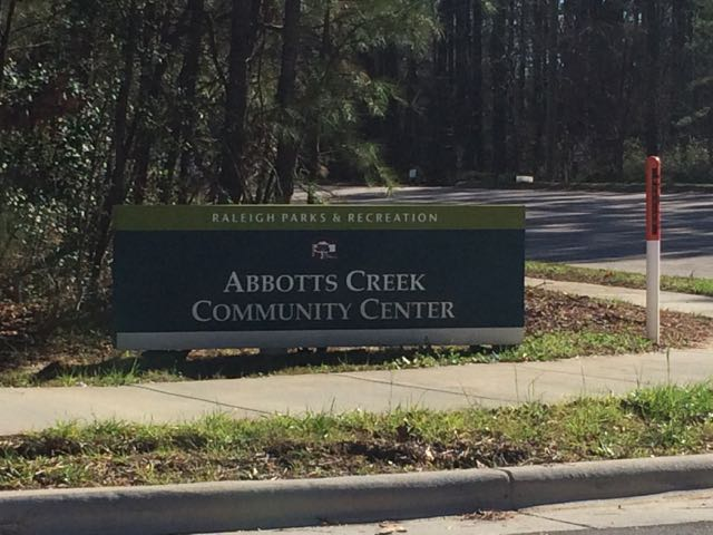 <h4>Abbotts Creek<span> – NEW!</span><br />Community Center</h4><h5>9950 Durant Road<br/>Raleigh, NC 27614</h5>