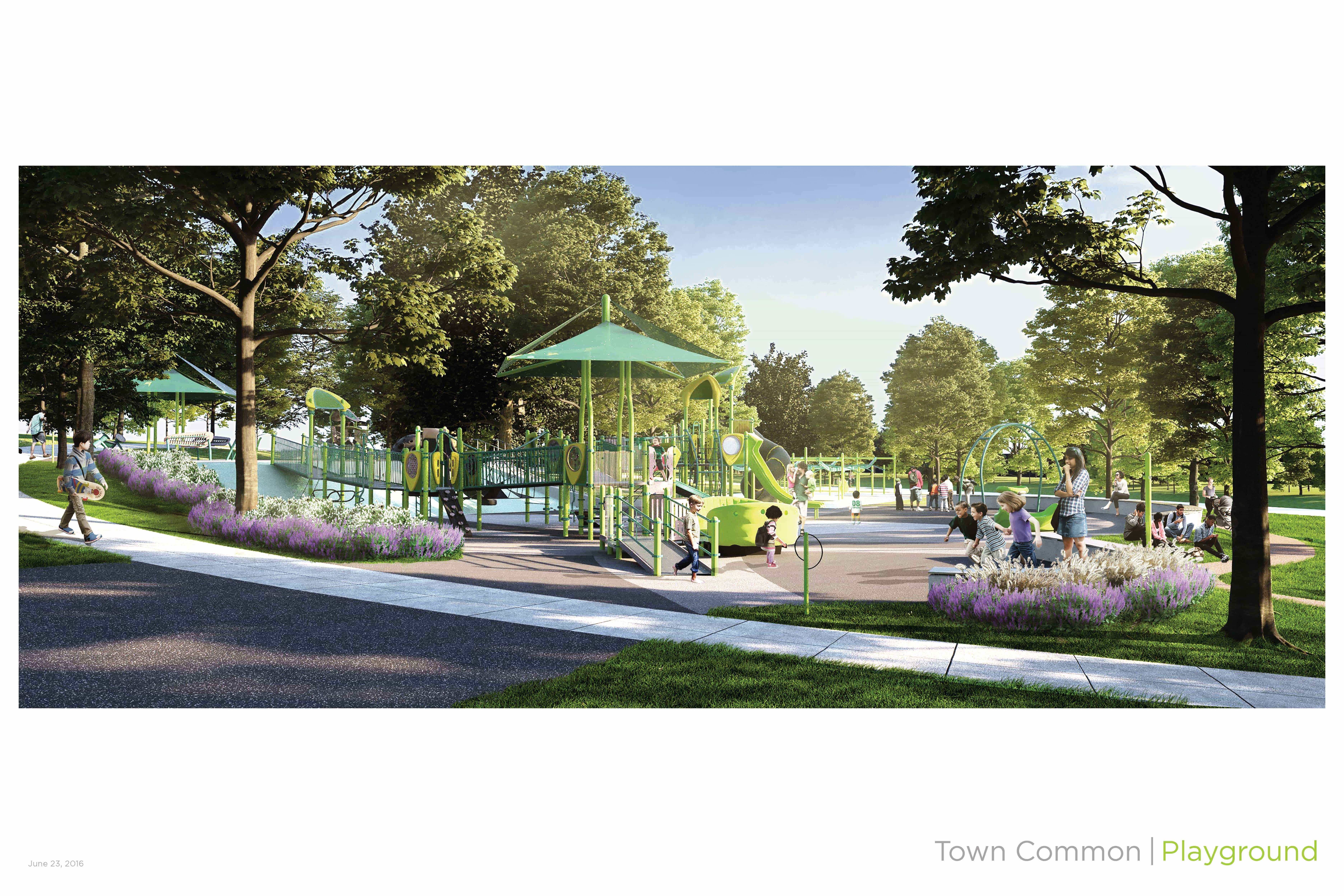 New Inclusive Playground ing soon to Town mon Playground in