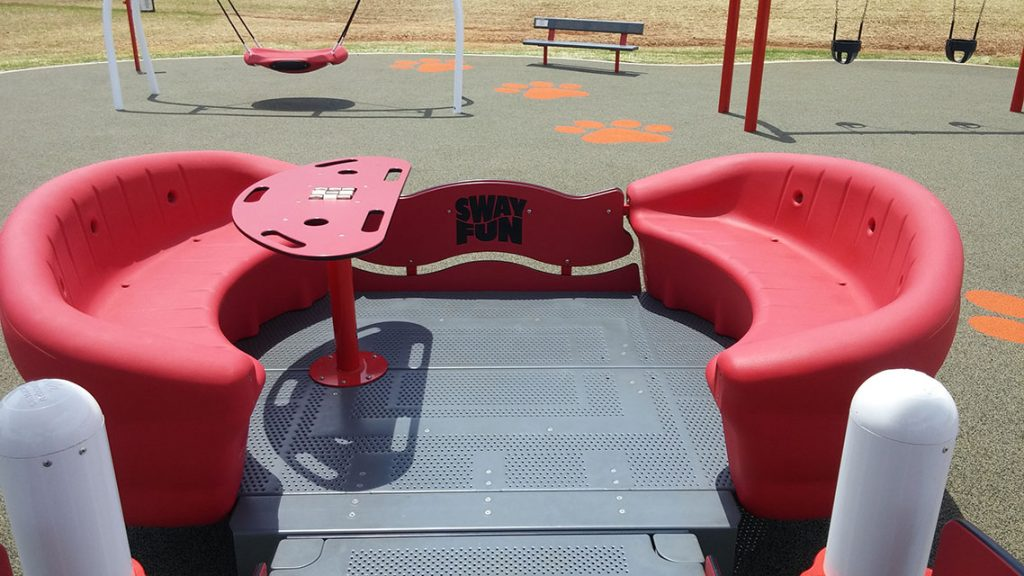 Sway Fun® Glider  The Sway Fun® Glider is the perfect choice for an inclusive playground. It's the first wheelchair-accessible glider that meets ALL safety standards!