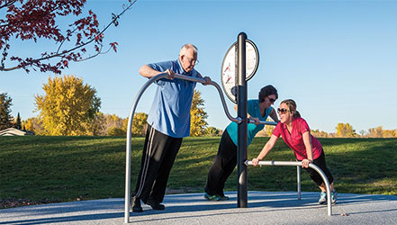 Health beat playground equipment image