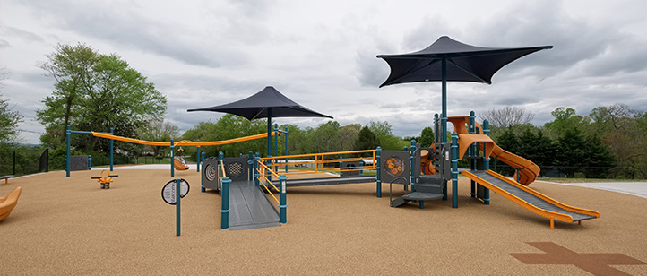 Orange and black playground image