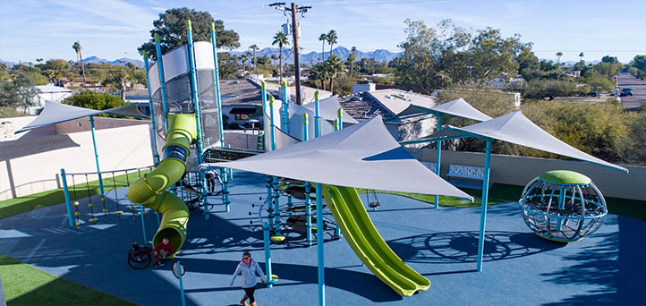 Playground with skyways shade image