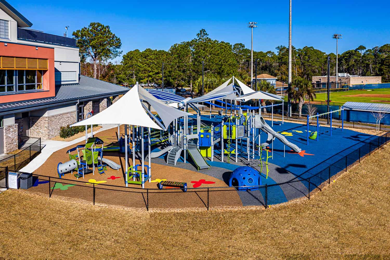 Yellow and blue playground image