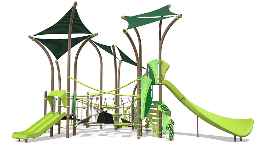 Render of green playground